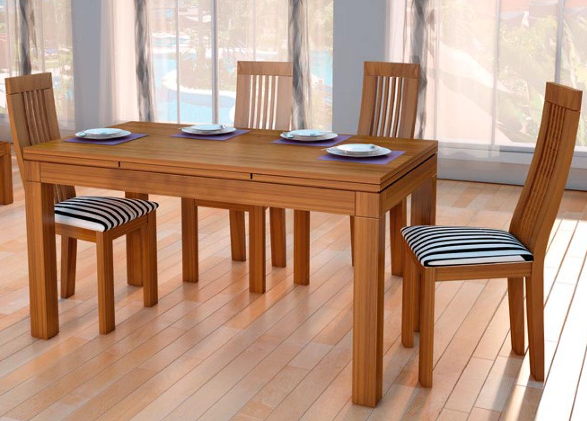 Comedores mesa comedor madrid fija for Modelos de mesas de comedor